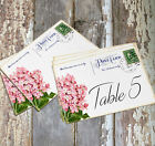 DOUBLE or SINGLE SIDED HYDRANGEA POSTCARD WEDDING TABLE CARDS or SIGNS #540