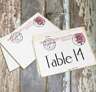 DOUBLE or SINGLE SIDED ITALY ITALIAN POSTCARD WEDDING TABLE CARDS or SIGNS #541