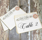 LARGE DOUBLE or SINGLE SIDED VINTAGE POSTCARD WEDDING TABLE CARDS or SIGNS #302