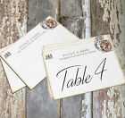 DOUBLE or SINGLE SIDED BRITISH LONDON POSTCARD WEDDING TABLE CARDS or SIGN #529