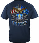 Erazor Bits T-Shirt - United States Air Force - Double Flag Eagle - Navy