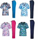 New Nursing Scrub Set NWT Sizes XS S M L XL 2XL 3XL Medical NWT Printed Scrubs