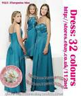 70% off long sash formal wedding Bridesmaid evening prom party ball dress gown