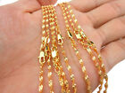 Внешний вид - 1PCS 16-30inches Jewelry 18K Yellow Gold Filled Double Water Wave Chain Necklace