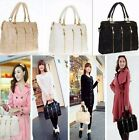 Elegant Women Lace Handbag PU Leather Messenger Tote Shoulder Bag Satchel