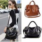 Punk Vintage Lady Handbag Shoulder Rivet Tassel Bag Tote Fashion PU Leather Wome