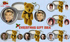 RETRO MUSIC ARTIST CANDLE AND TEDDY KEYRING GIFT SET IDEAL XMAS GIFT IDEA