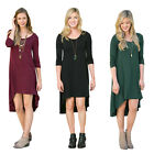Fashion Women Loose Boat Neck Irregular Hem Party Cocktial Beach Club Mini Dress
