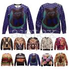 Mens Womens Funny Vintage 3D Print Space Galaxy Top Tee T Shirt S/M/L/XL OBSMC36