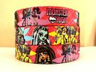 """1"""" Moster High Girls Pink Inspired 4 yards Grosgrain Ribbon-Printed-Sewing-Craft"""