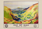 Isle of man- LMS Railway Travel Poster reproduction