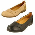 Padders  Ladies Leather Suede Wide Fit Flat Slip On Shoes Style - Rye