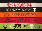 Halloween Horror Costume Contest Sash Glo in the Dark option YOUR DESIGN & WORDS
