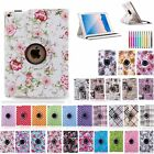 For Apple iPad 2 3 4/Air1 2/mini 360 Rotating Stand PU Leather Cover Smart Case