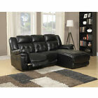 Monarch Specialties Bonded Leather Match Reclining Sofa Lounger
