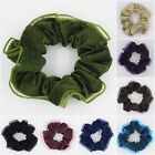 1pc Shiny Cloth Ponytail Holder Elastic Hair Bands Scrunchy Lace Trim Accessory