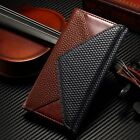 Real Genuine Leather Wallet Card Kickstand Cover Case For Apple iPhone 6 6S Plus