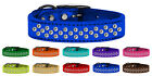Sprinkles Clear Jeweled Metallic Leather Dog Collars - Sparkling Clear Crystals