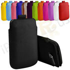 Small Premium PU Leather Pull Tab Case Cover Pouch For Alcatel OT-209