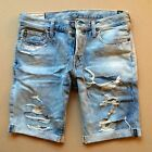 Abercrombie by Hollister Men Jean Denim Shorts The A&F Skinny Fit Destroyed 32 M