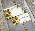 SUNFLOWER POSTCARD WEDDING PLACE CARDS, TAGS or ESCORT CARDS #57