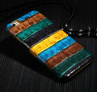 Colorful Crocodile Texture Genuine Cowhide Leather BackCover Case For iPhone 6s