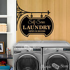 Self Serve Laundry 24 Hours Vinyl Wall Art Home Decoration Quote Decal Sticker