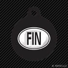 Finland Oval Keychain Round with Tab dog engraved many colors country code FIN