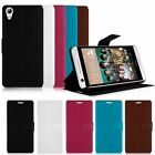 PU Leather Flip Wallet Card Slot Pouch Case Cover Stand for HTC Desire 626 626S