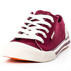 Rocket Dog Jazzin Womens Textile Burgundy Trainers