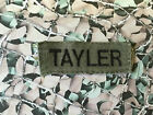 MILITARY ARMY POSTLETHWAITE / TAYLER / JONES NAME PATCH OLIVE GREEN OG