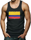 Distressed Colombian Flag - Colombia Men's Tank Top T-shirt
