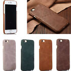 New Luxury Retro Genuine Leather Card Pocket Back Case Cover for iPhone 6/6 Plus