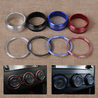 6pcs Alloy Air Condition AC Button Knob Ring Cover Kit for Subaru Forester XV
