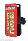 Funny Minions inside Red Telephone Box Flip Wallet Mobile Phone Case Cover