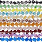 1 Strand Crystal Glass Square Cube Loose Bead Charms Women Jewelry DIY Gift 10mm