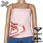 QUIKSILVER ROXY 'BIG GLITTER' STRAPPY TOP SHIRT LIGHT PINK 10 12 14 BNWT RRP £22