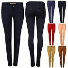 New Ladies Women Skinny fit Coloured Stretch Jeans Jeggings Pants 6-14 Plus Size