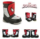 Marvel Spiderman Cold Weather Flashing Snow Boots Boy's  Youth  Size 5/6  NWT