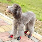 Waterproof Pet Shoes Anti Skid Dog Boots For Pet Red Six Size Diving fabric