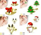 Xmas Style Tragus Cartilage Upper Ear Piercing Stud Top Earring 16ga 1.2mm 6mm