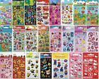 6 Mini Character Sticker Sheets Perfect for Party Bags, Reward, Children's Craft