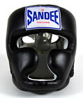 Sandee Closed Face Head Guard Muay Thai Boxing MMA Sparring - Black Red Blue
