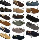 Mens Warm Fur Lined Winter Comfort Home House Clog Mule Slip on Slippers Shoes