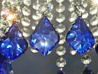 5 CRYSTALS DROPS GLASS BEADS CHANDELIER LIGHT PRISMS PARTS VINTAGE LOOK DROPLETS
