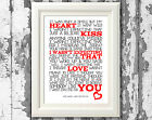Jamie Lawson Wasnt Expecting That Song Lyrics Poster Art Prints Typography