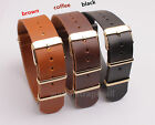 Watch Band Strap Golden buckle 20MM Imitation Leather Watchbands
