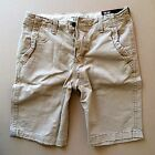 Abercrombie & Fitch A&F Hollister Mens Classic Fit Shorts Khaki Casual Authentic