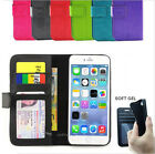 iPhone 5 / 5S 5C Case, Ultra Leather Flip Wallet Cover for Apple