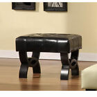 Central Park Tufted Leather Ottoman